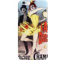 Vintage Jules Cheret L'Amant des Danseuses 1896 iPhone Case/Skin
