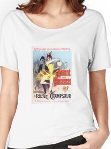 Vintage Jules Cheret L'Amant des Danseuses 1896 Women's Relaxed Fit T-Shirt