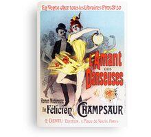 Vintage Jules Cheret L'Amant des Danseuses 1896 Canvas Print