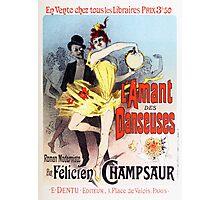 Vintage Jules Cheret L'Amant des Danseuses 1896 Photographic Print