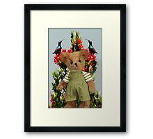 TEDDY AND THE BIRDS POINT OF VIEW Framed Print