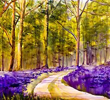 Bluebell Walk by A Portrait  of Europe