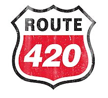 Vintage Route 420 Photographic Print
