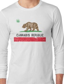 Vintage Cannabis Republic Long Sleeve T-Shirt