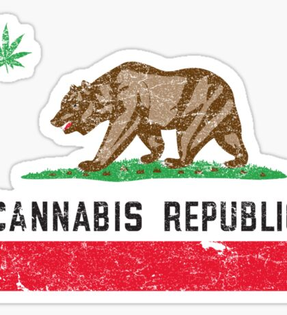 Vintage Cannabis Republic Sticker