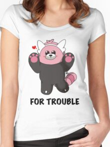 BEWEAR for Trouble Women's Fitted Scoop T-Shirt