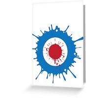 Mod Splat Greeting Card
