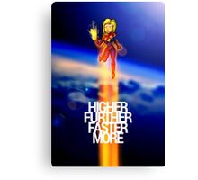 Higher Further Faster More Canvas Print