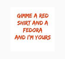 A red shirt and a fedora Unisex T-Shirt