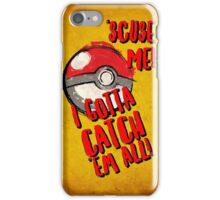 Pokemon Go Catch Em All! iPhone Case/Skin