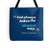 A. Einstein Quote Tote Bag