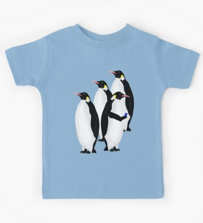 Penguin Using A Cell Phone Kids Tee