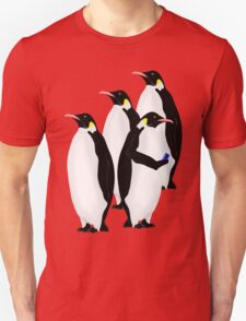 Penguin Using A Cell Phone Unisex T-Shirt