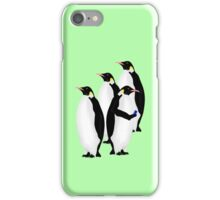 Penguin Using A Cell Phone iPhone Case/Skin