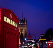 Wet London Phone Box by psankey