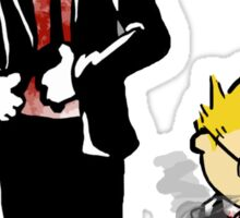 Calvin And Hobbes Partners In Crime Sticker