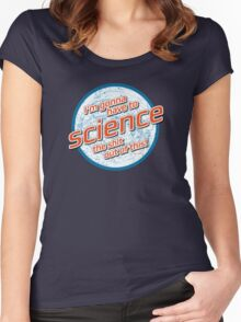 I'm gonna have to Science the shit out of this! - The Martian Women's Fitted Scoop T-Shirt