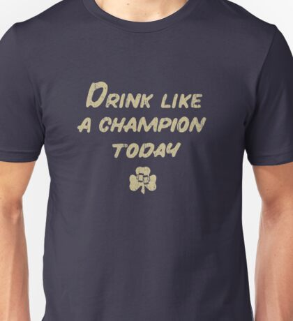 Drink Like a Champion - South Bend Style Dark Blue Unisex T-Shirt