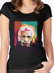 Einstein Art  Women's Fitted Scoop T-Shirt