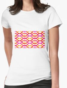 background abstract rantai Womens Fitted T-Shirt