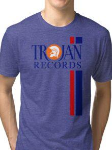 TROJAN RECORDS TWO STRIPE Tri-blend T-Shirt
