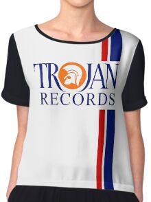 TROJAN RECORDS TWO STRIPE Chiffon Top