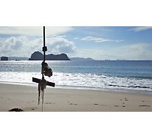 Swinging on the Beach Photographic Print