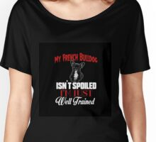 French Bulldog Puppy Lovers Quote Women's Relaxed Fit T-Shirt
