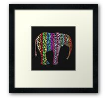 Coloured Elephant Framed Print