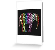 Coloured Elephant Greeting Card