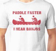 Paddle Faster I Hear Banjos - Vintage Unisex T-Shirt