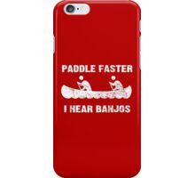 Paddle Faster I Hear Banjos - Vintage Dark Apparel iPhone Case/Skin