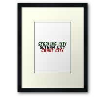 DC Comics - Key Cities Framed Print