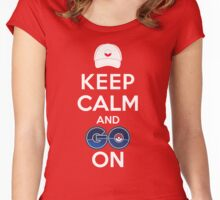 Keep Calm and Go On Women's Fitted Scoop T-Shirt
