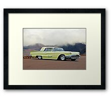 1958 Ford Thunderbird 'Custom' Framed Print