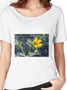 Beautiful sunny yellow flower macro. Women's Relaxed Fit T-Shirt