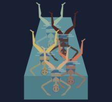 Synchronized Swimming One Piece - Short Sleeve