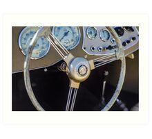 Classic MG Steering Wheel Art Print