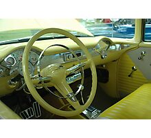 Steering Wheel & Dash  '55 Chevy Bel Air  Photographic Print