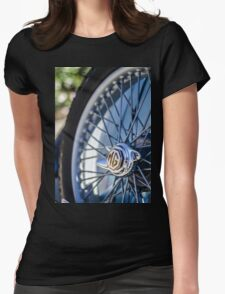 Classic MG Wire Wheel Womens Fitted T-Shirt