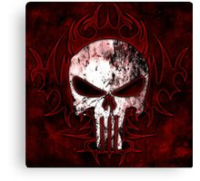 Skull blood !!! Canvas Print