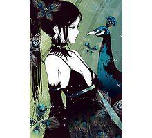 Peacock anime girl Photographic Print