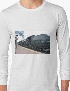 Train Engineer Backing Train Cars Out  Long Sleeve T-Shirt