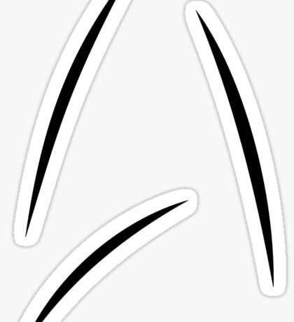 Star Trek Beyond - Starfleet Logo as seen on Captain Kirk's Mug Sticker