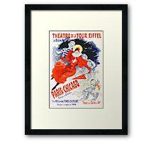 Vintage Jules Cheret 1896 Paris Chicago Revue Framed Print