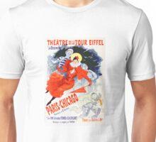 Vintage Jules Cheret 1896 Paris Chicago Revue Unisex T-Shirt