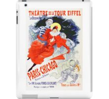 Vintage Jules Cheret 1896 Paris Chicago Revue iPad Case/Skin
