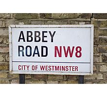 Abbey Road street sign Photographic Print