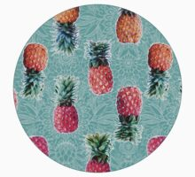 From Pineapple to Pink - tropical doodle pattern on mint Kids Clothes