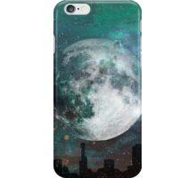 Moon Over City On Beautiful Night iPhone Case/Skin